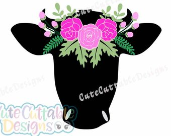 340x270 Cow Head Svg Etsy