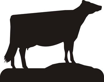 340x270 Dairy Cow Silhouette Clip Art