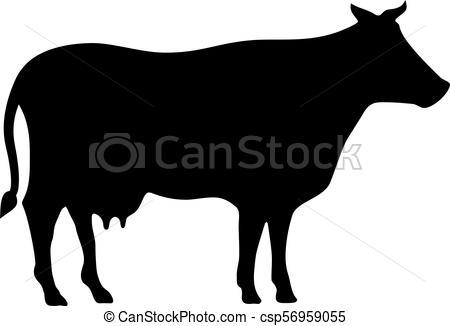 450x326 Cow Vector Silhouette Icon Clipart Vector