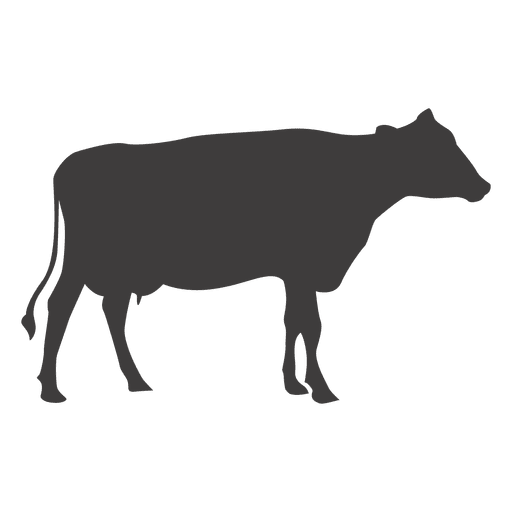 512x512 Cow Silhouette Vector