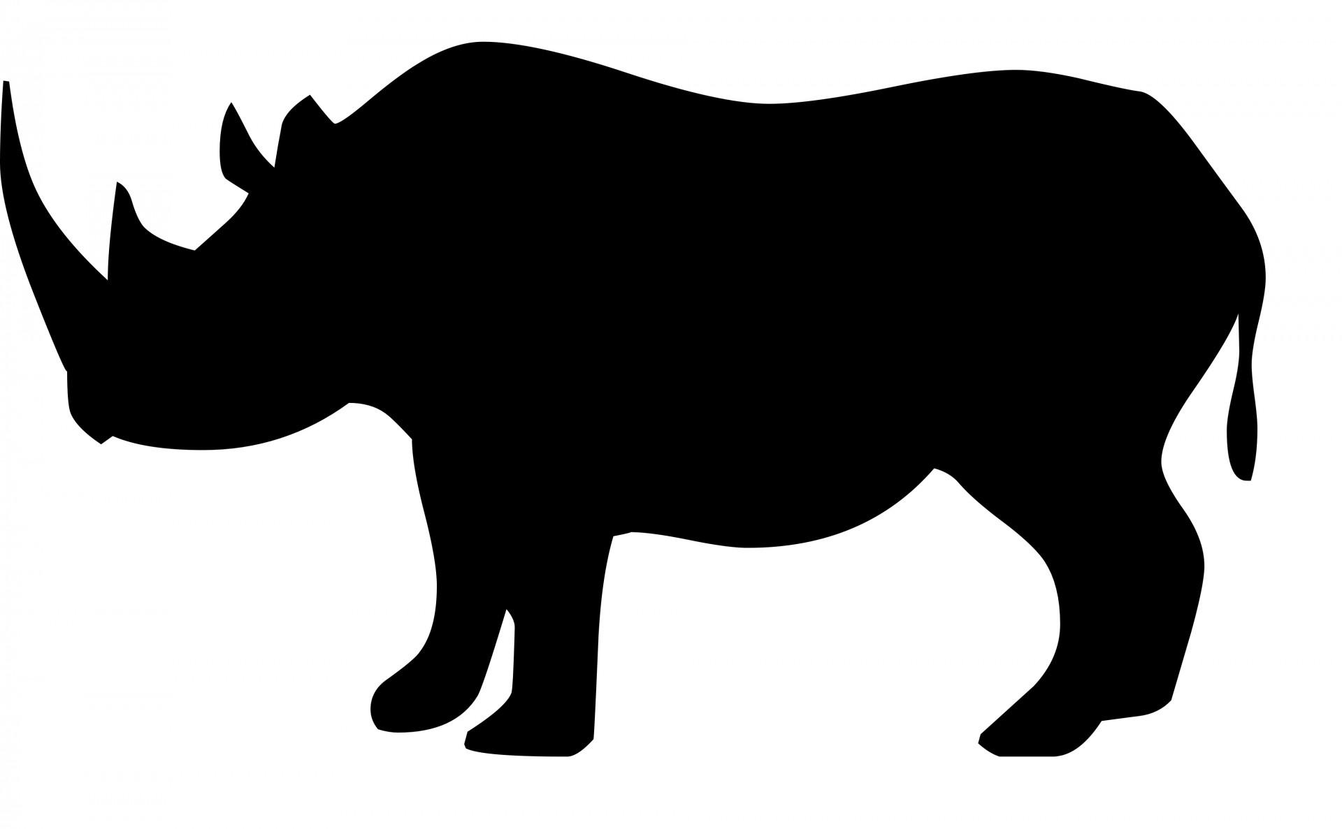 1920x1187 Rhino Clipart Silhouette