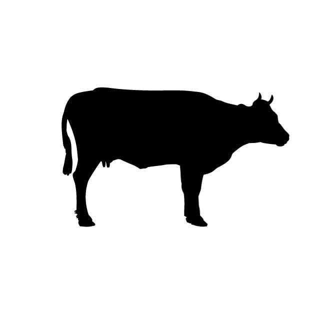 cow silhouette clip art at getdrawings com free for personal use rh getdrawings com cattle clipart black and white cattle clipart free
