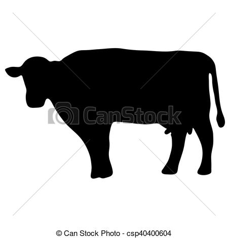 450x470 High Quality Original Ilustration Of Cow Silhouette. High