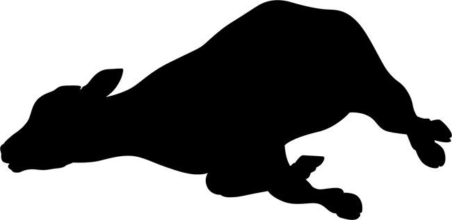 650x317 Cow Clipart Stencil