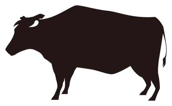 550x340 Free Cliparts Silhouette, Cattle, A Bovine