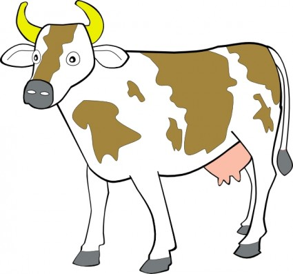 425x397 Cattle Clipart Cow Outline