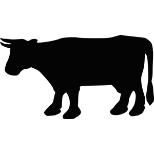 300x300 Cow Silhouette 2 Clipart, Cliparts Of Cow Silhouette 2 Free