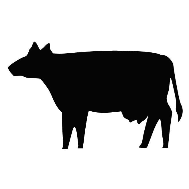 660x660 Cow Outline Image