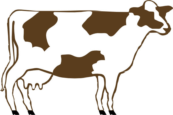 600x397 Cow Silhouette Clip Art Free Vector In Open Office Drawing Svg