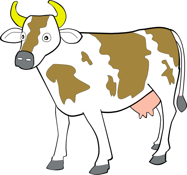 600x561 Cow Clip Art Free Vector 4vector