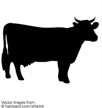 335x355 Download Cow Silhouette