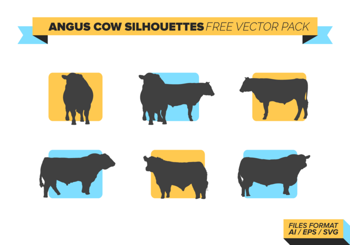 Cow Silhouette Vector Free