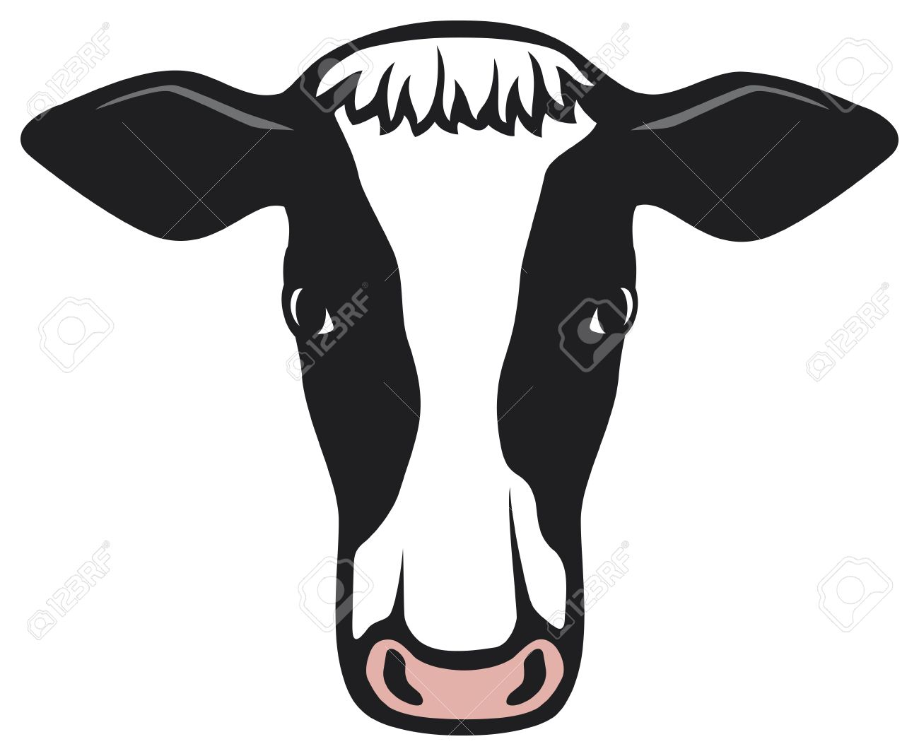 1300x1070 Clipart Cow Head Collection
