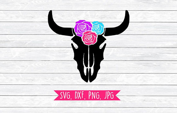 570x365 Cow Head, Svg, Dxf, Png, Files For Silhouette, Cricut, Native
