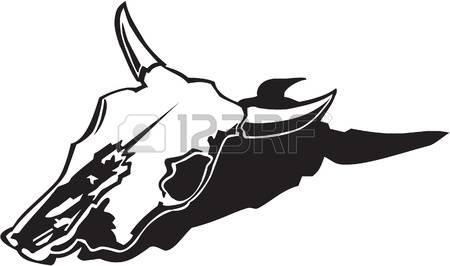 450x266 Cow Skull Clip Art