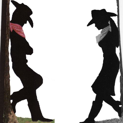 Cowboy And Cowgirl Silhouette