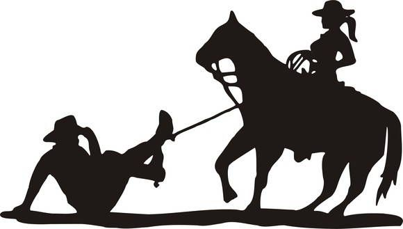 Cowboy And Cowgirl Silhouette At Getdrawings Free Download