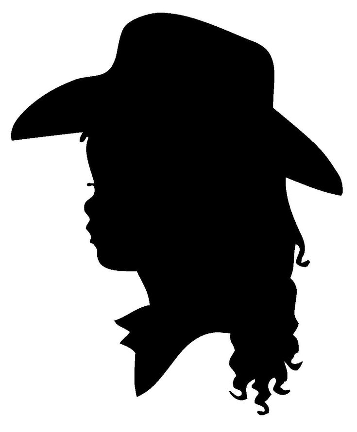Cowboy And Girl Silhouette