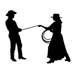 236x236 Cowgirl Silhouette Vector Free Download Two Beautiful Cowgirls