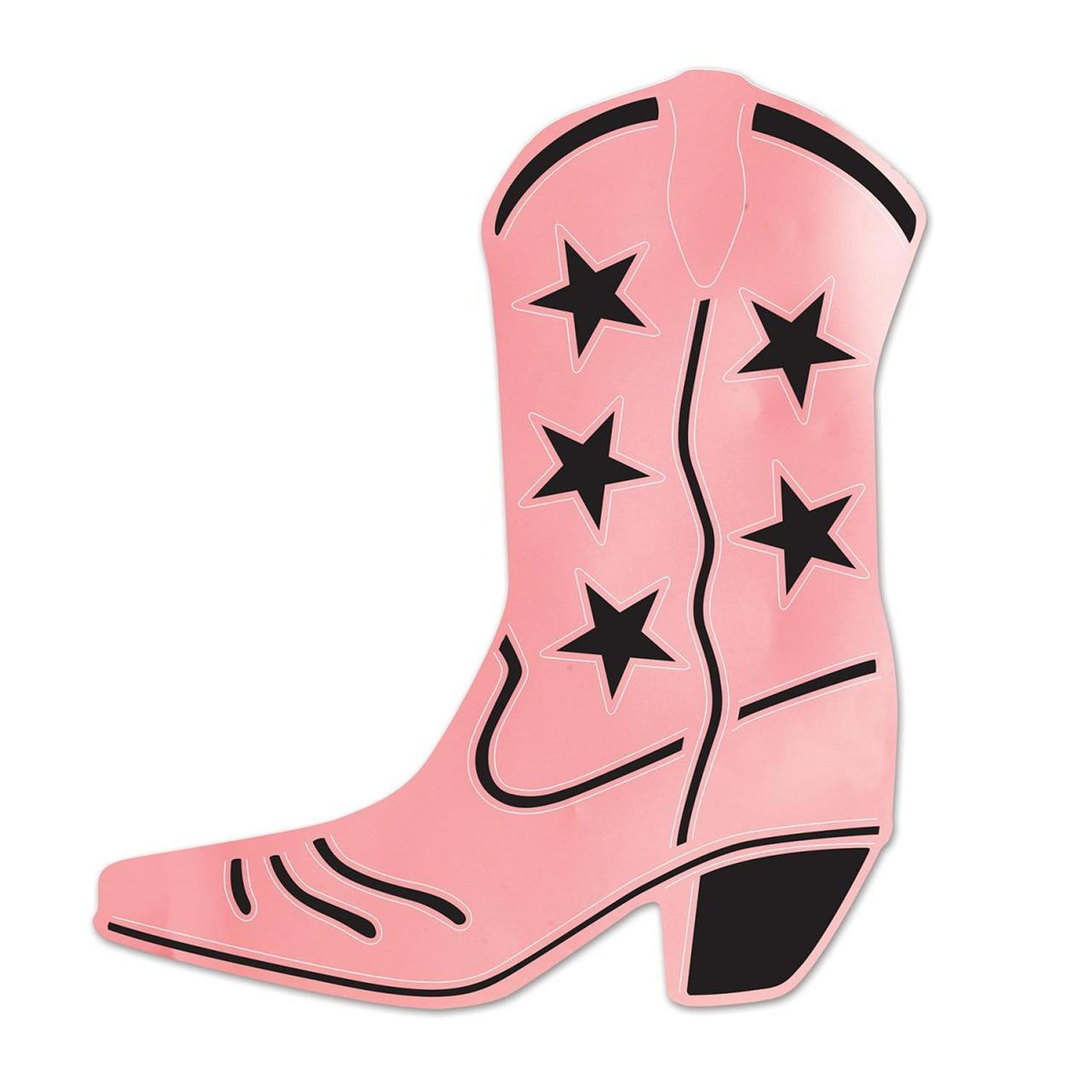 1280x1280 Club Pack Of 24 Pink Amp Black Foil Country Western Cowboy Boot