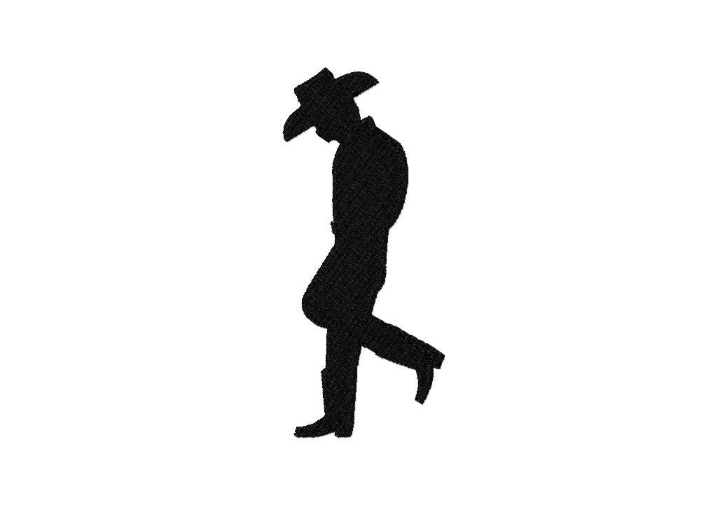 1038x721 Black Foil Cowboy Boot Silhouette 16