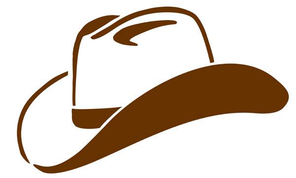 600x361 Cowboy Hat Silhouette Clipart