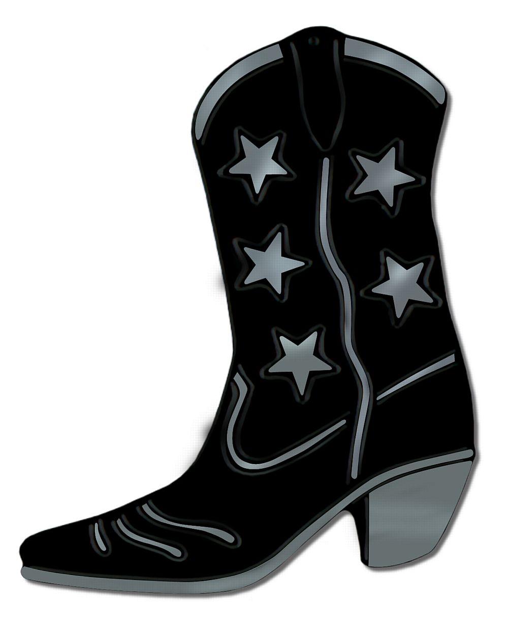 1000x1249 Black Foil Cowboy Boot Silhouette 16
