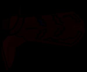 299x246 Boot Silhouette Clip Art