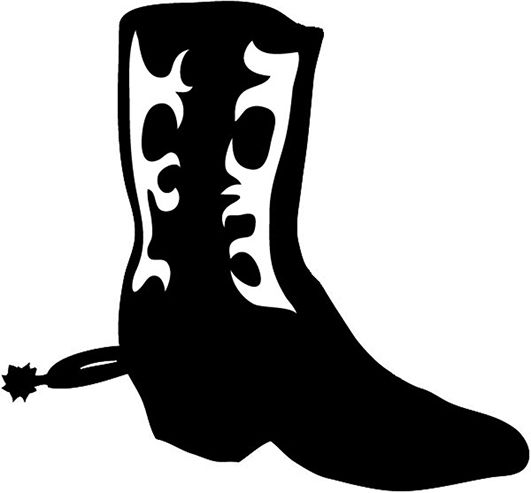 531x493 Cowboy Silhouette Patterns Western Boot With Pattern Cricut