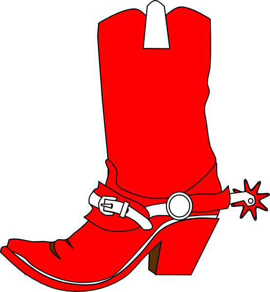 552x597 Cowgirl Boot Clip Art