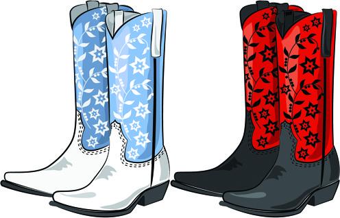 496x318 Free Cowboy Boots Vector Free Vector Download (204 Free Vector
