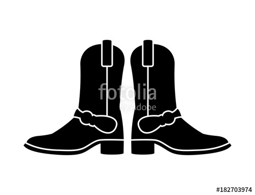 500x382 Men Long Boots Shoes Image Vector Silhouette Stock Image