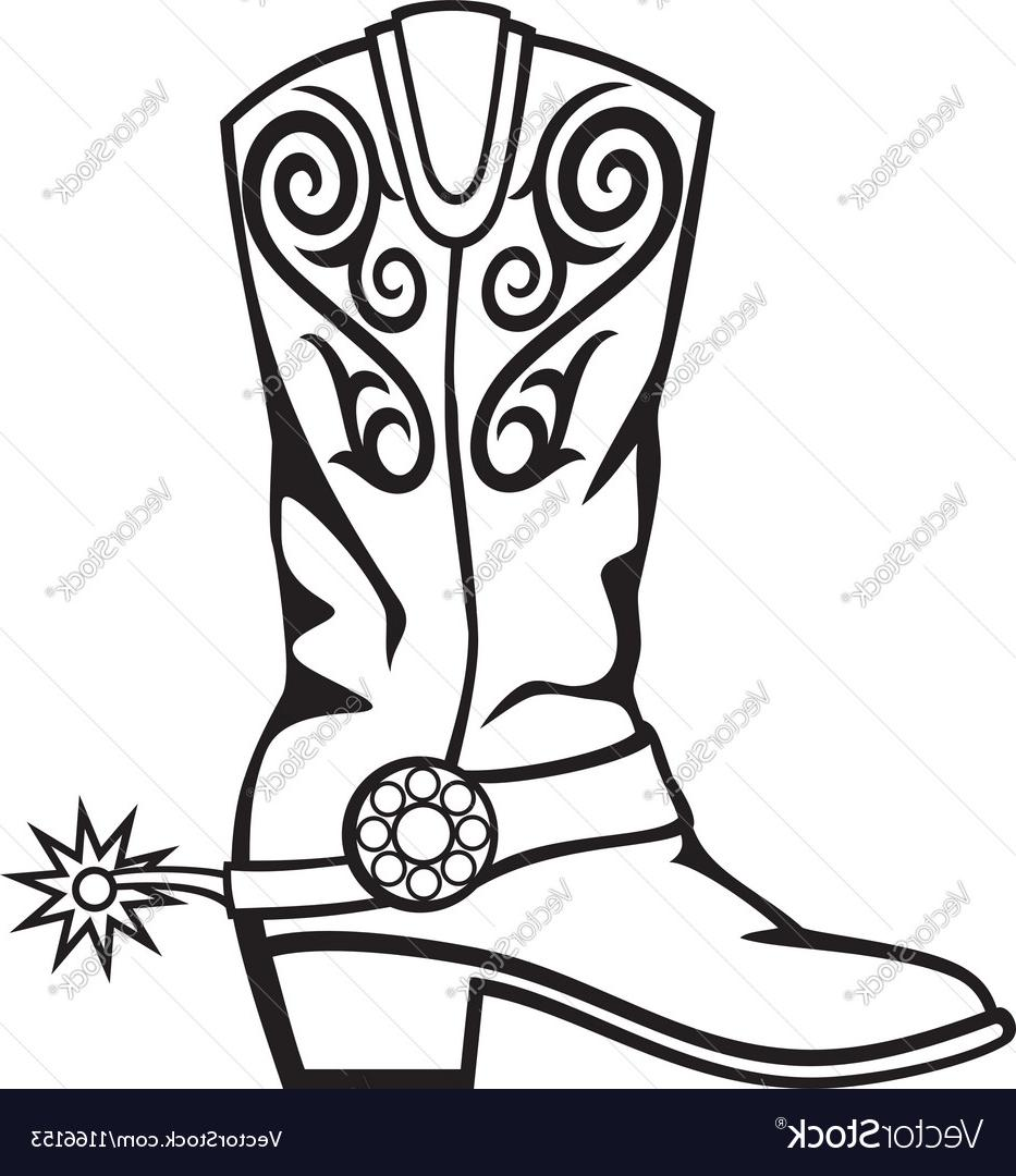 933x1080 Best 15 Cowboy Boot Vector Library