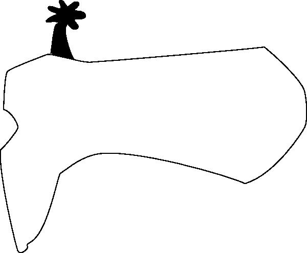 600x495 Cowboy Boots Clipart Black And White Cowboy Clip Art Image
