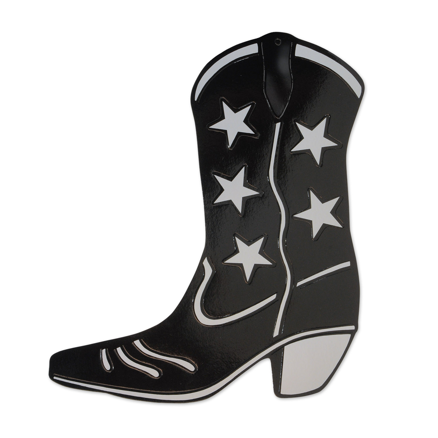 1500x1500 Foil Cowboy Boot Silhouette (Pack Of 24)
