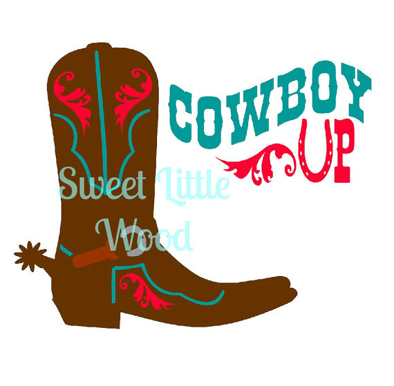 570x559 Cowboy Boot Cowboy Up Svg 3 X Digital Svg File In Black Line