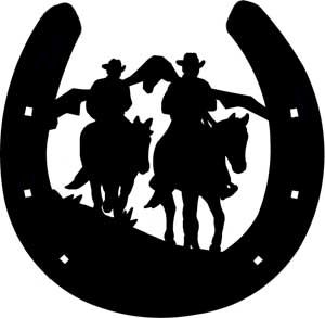 300x293 Image 1 Cowboy Silhouettes Silhouettes, Cross