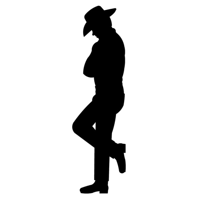 640x640 Wall Art Silhouettes Old West