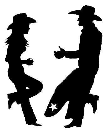 Cowboy Cowgirl Silhouette