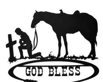 Cowboy Cross Silhouette At GetDrawings