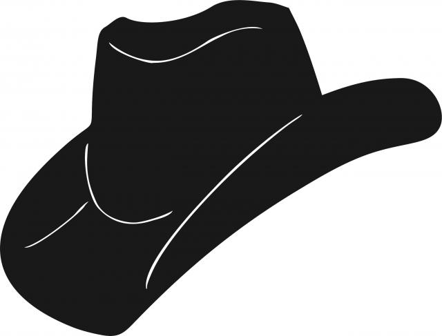 640x487 Cowboy Hat Silhouettes Laser Cut Appliques