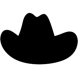 263x262 Cowboy Hat Silhouette Father's Day Decor Cowboys