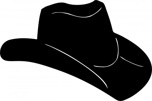 640x428 Cowboy Hat Silhouettes Laser Cut Appliques