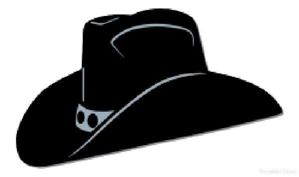 600x355 Black Foil Cowboy Hat Silhouette (2 Per Pack) Party Supplies
