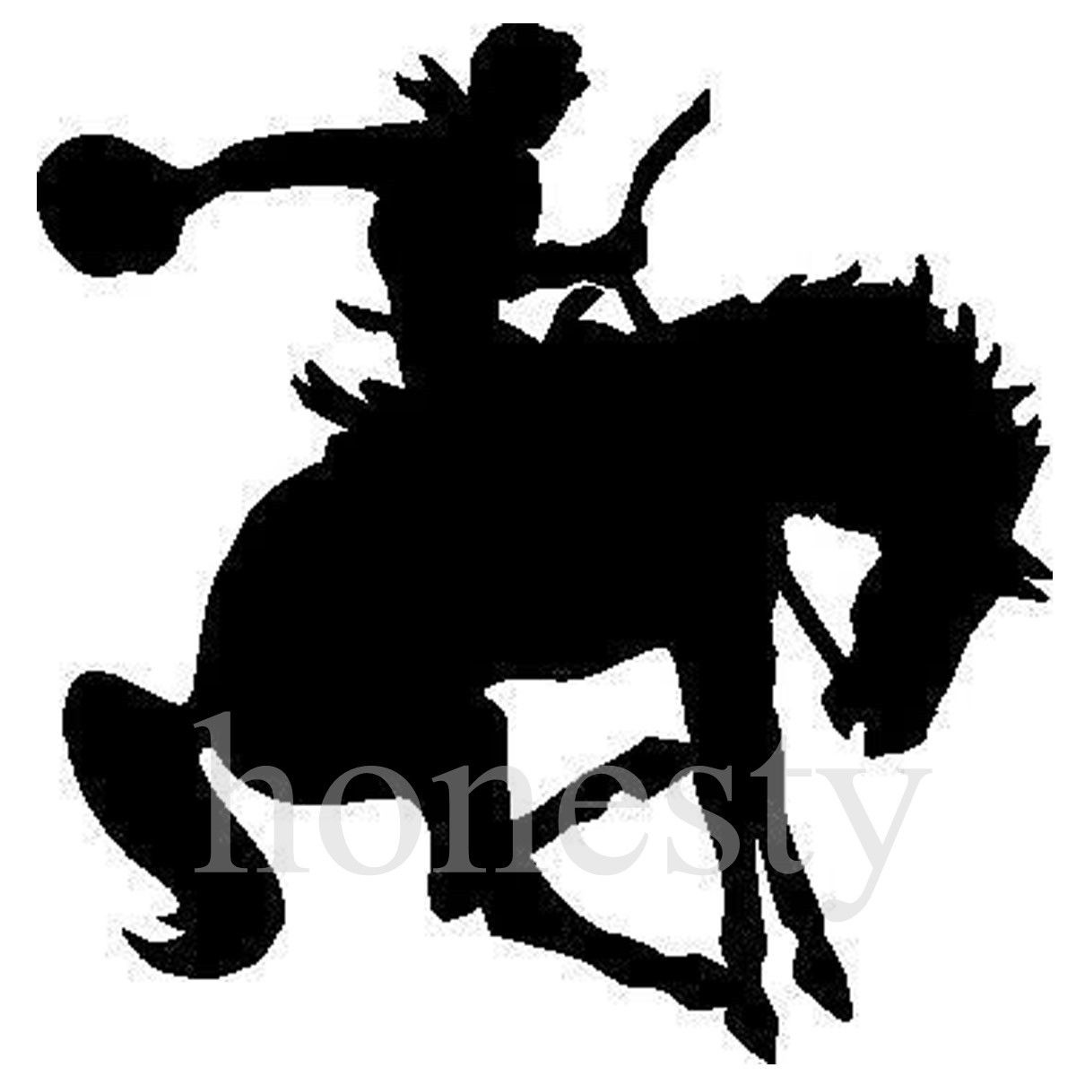 1200x1200 Rodeo Horse And Cowboy Wall Home Glass Window Door Car Sticker