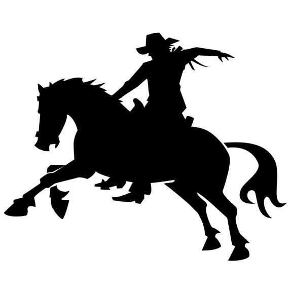 570x570 Silhouette Cowboy On The Back Of A Horse