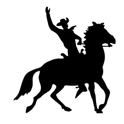 400x398 Cowboy Horse And Rider Silhouette Western Cowboy