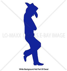283x300 Leaning Cowboy Silhouette Shadow Western Car Truck Wall Die Cut