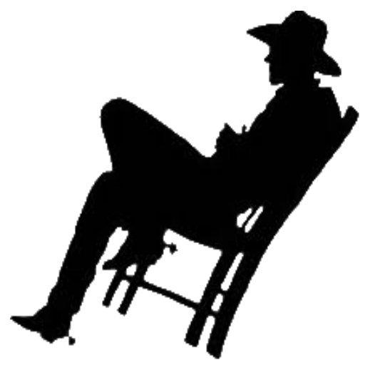 512x512 Cowboy On Chair.jpg Silhouettes Cowboys