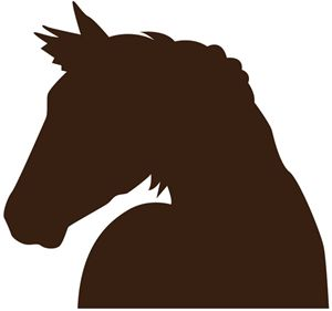 300x281 203 Best Silhouettes Horse Cowboy Silhouettes Images
